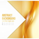 Vector Beautiful Gold Satin. Template brochure design Royalty Free Stock Photo