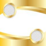 Vector Beautiful Gold Satin. Template brochure design stock illustration