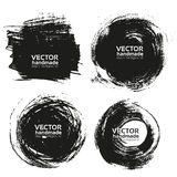 Vector beautiful handmade black strokes Royalty Free Stock Images