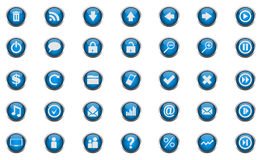 Vector beautiful icon set Royalty Free Stock Image