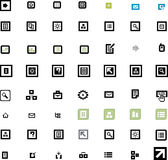 Vector beautiful icon set Stock Images
