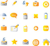 Vector beautiful icon set Stock Photo