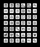Vector beautiful icon set. Stock Images