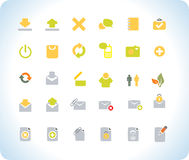 Vector beautiful icon set. Royalty Free Stock Photos