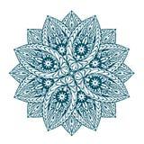 Vector beautiful mandala. Decorative ethnic floral ornament Stock Photo
