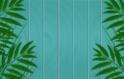 Vector beautiful nature background banner on a wooden board with Royalty Free Stock Photography