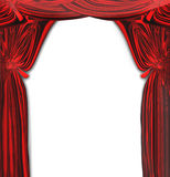 Vector Beautiful Red Drapes Royalty Free Stock Image