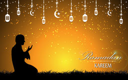 Vector beautiful scene ramadan muslim culture background Royalty Free Stock Photos