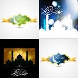 Vector beautiful set of ramadan kareem festival background illus Royalty Free Stock Photos