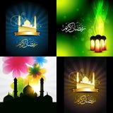 Vector beautiful set of ramadan kareem festival background illus Stock Photo