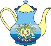 Vector beautiful sun cup of tea. Stock Photo
