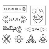Vector Beauty and Care logo Templates Stock Images