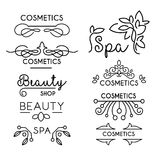 Vector Beauty and Care logo Templates Royalty Free Stock Image