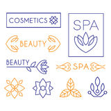 Vector Beauty and Cosmetics Logos Royalty Free Stock Image