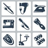 Vector beauty and garment care appliances Stock Image
