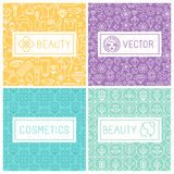 Vector beauty labels Stock Image