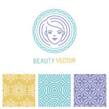 Vector beauty logo design template Stock Images