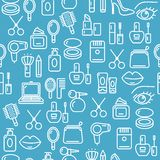 Vector Beauty Outline Concept Stock Images