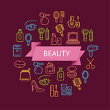 Vector Beauty Outline Concept Royalty Free Stock Photography