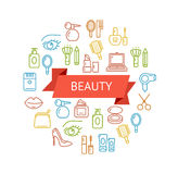 Vector Beauty Outline Concept Stock Photo