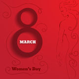 Vector beauty red women's day background. Eps10 illustration Royalty Free Stock Photography