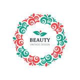 Vector beauty salon logo design template Stock Photo