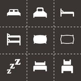 Vector bed icon set Royalty Free Stock Photo
