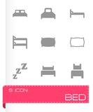 Vector bed icon set Stock Photo