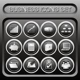 Vector Bedrijfs geplaatste pictogrammen Royalty-vrije Stock Foto's