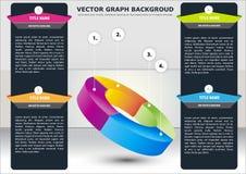 Vector bedrijfsachtergrond met sectionele grafiek Royalty-vrije Stock Fotografie