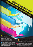 Vector bedrijfsachtergrond met verticale economische grafieken Royalty-vrije Stock Afbeeldingen