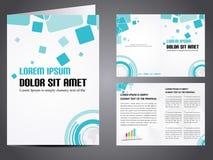 Vector bedrijfsbrochure Stock Afbeelding