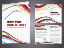 Vector bedrijfsbrochure Royalty-vrije Stock Foto
