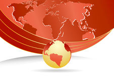 Vector bedrijfsmalplaatje met wereldkaart Royalty-vrije Stock Foto's