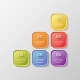 Vector bedrijfsmalplaatje voor presentatie Stock Afbeelding