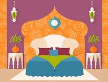 Vector bedroom in Arabic style Stock Photo
