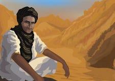 Vector beduino del desierto ilustración del vector