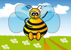 Vector bee Royalty Free Stock Images