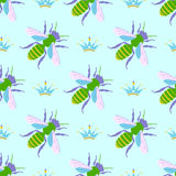 Vector bee background Stock Image