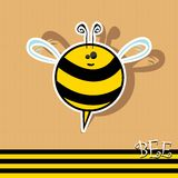 Vector bee icon. vector illustration. Stock Photo