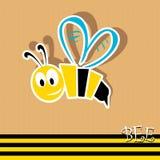 Vector bee icon. vector illustration. Royalty Free Stock Photo
