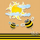 Vector bee icon. vector illustration. Royalty Free Stock Photos