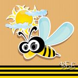 Vector bee icon. vector illustration. Stock Images