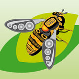 Vector - Bee Illustration royalty free stock photo
