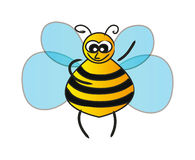 Vector bee isolated on white Stock Images