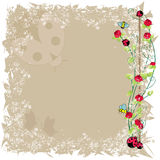 Vector bee and ladybird frame Royalty Free Stock Photo
