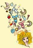 De dingen grafische reeks van de mama Royalty-vrije Illustratie