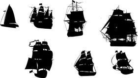 Vector Beeld van boten Stock Foto