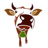 Vector beeld van een koe stock illustratie