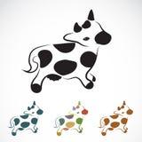 Vector beeld van een koe Royalty-vrije Stock Afbeelding